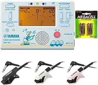 【単4電池4本付】YAMAHA ヤマハ TDM-700DD2 ドナルドダック + TM-30 チューナー/メトロノーム + コンタクトマイクセット/マイク色 BK