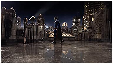 Superman Returns with Brandon Routh and Kate Bosworth on Roof 8 X 10 Inch Photo