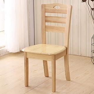 QFWM Sillas de Comedor Comer Simple Silla de Hogares Respaldo Silla Completa de Roble for la Sala de Estar y Comedor Cocina Comedor Muebles (Color : Wood, Size : 40x37.5x90cm)