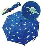 Paraguas con dinosaurios mágicos de HECKBO - Cambia de color si llueve - Plegable: cabe en...