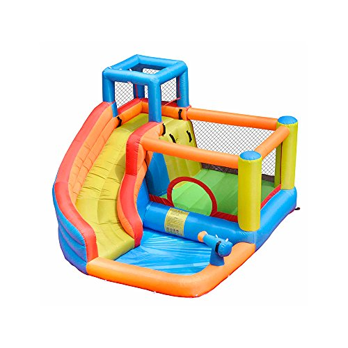 doctor dolphin Inflatable Bounce Slide House Jumper Water Slide Park Combo for Kids Outdoor Party with Air Blower