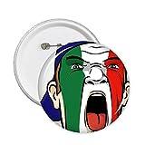 Italia bandera nacional pintura facial maquillaje máscara gritando Cap Clavijas redondas insignia botón ropa decoración regalo 5pcs