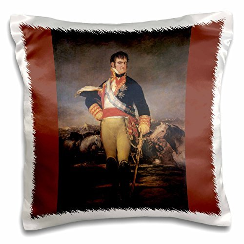 BLN Paintings of Kings, Queens and Royalty - Fernando VII in an Encampment, c. 1814 by Franciso de Goya Lucientes - 16x16 inch Pillow Case
