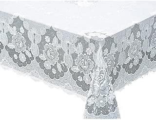 MEIWA 美珍珠花边桌布(1件) 粘合系列 搅拌器 120cm×150cm 白色