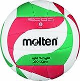 Molten - V5M2000-L, Pallone da pallavolo, colore: Bianco/Verde/Rosso