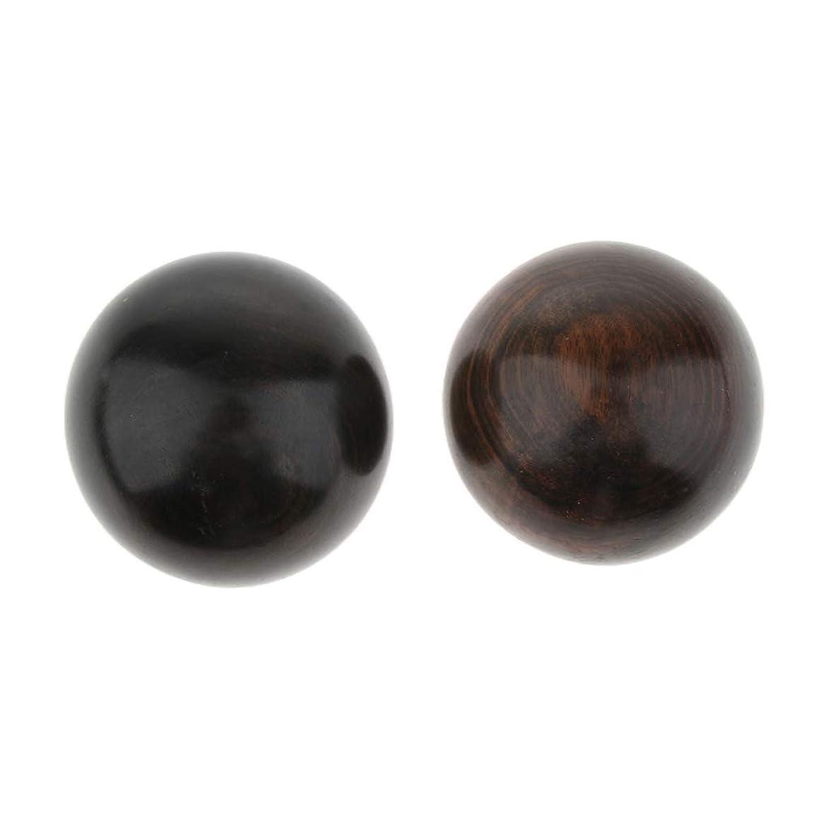 用心深い粒品揃えPerfeclan 2個 マッサージボール ハンドボール 鍛えるボール 木製 ストレス解消グッズ 運動 実用的