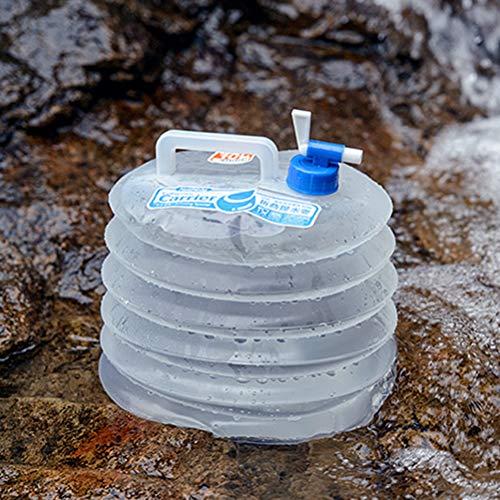 Faltbare Wassereimer BPA Frei Falten PE Wasserkocher 5L Transparent Auto Wasser Carrier Container für Picknick Im Freien Wandern Camping Angeln