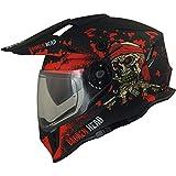 Broken Head Jack S. VX2 Rot - Enduro Cross Helm - Motorrad-Helm Mit Visier & Sonnenblende - Größe...