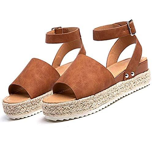 CCCS Damen Sandalen Bequeme modische,Damen Sommer Strand Reise Schuhe, Open Toe Atmungsaktive,40