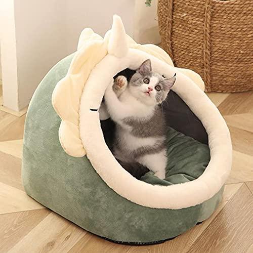 TREWQ Cojín para gatos con cojín para gatos y gatos, muy suave, parte inferior antideslizante, adecuado para perros pequeños y gatos E-M