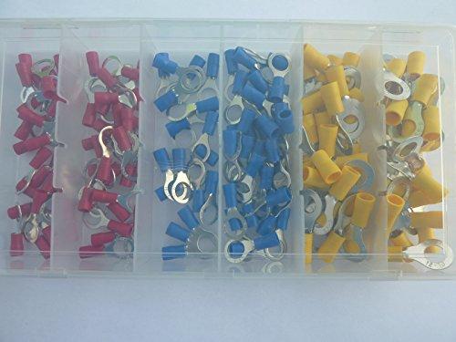 SK-DV 150 Ring Kabelschuhe Ringoese M8 rot blau gelb für Kabel von 0,5 mm² - 6 mm