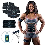 Flextone Abs Stimulator - FDA 510K Cleared - Six Pack Ab Muscle Toner for Men, Women - Electronic Power Abdominal EMS Trainer Machine for Muscle Toning