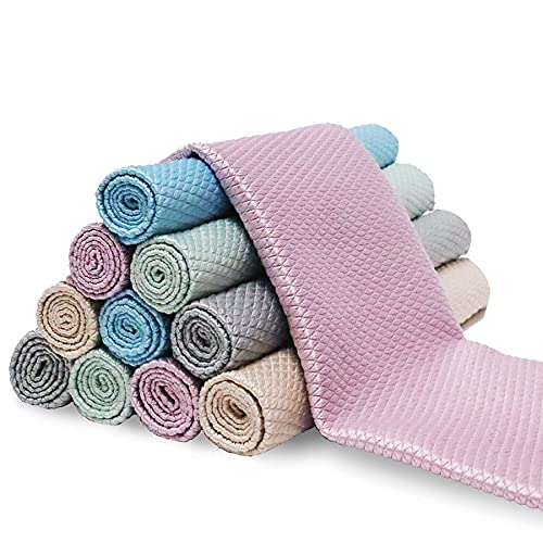 5Pcs Nanoscale Cleaning Cloth, Easy Clean Cloth, Fish Scale Microfiber Easycleanco Cloth, Reusable...