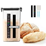 Sourdough Starter Jar Kit, 45 Oz DIY Sourdough Starter Jar with Magnetic Strip, Thermometer, Fruit...
