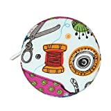 rft Measuring Tape 150 Cm 60 Inch Colorful Printed Soft Tape Measure Automatic Retractable Cloth Tape Body Tailor Sewing Craft Cloth Tape Measure Retractable For Body Measuring
