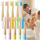 Adult Kids Bamboo Toothbrushes / BPA Free Soft Bristles Toothbrushes | Natural Eco Friendly Biodegradable Charcoal Wood Tooth Brushes, Compostable 100% Organic Charcoal Wooden toothbrushes,(10Pack)