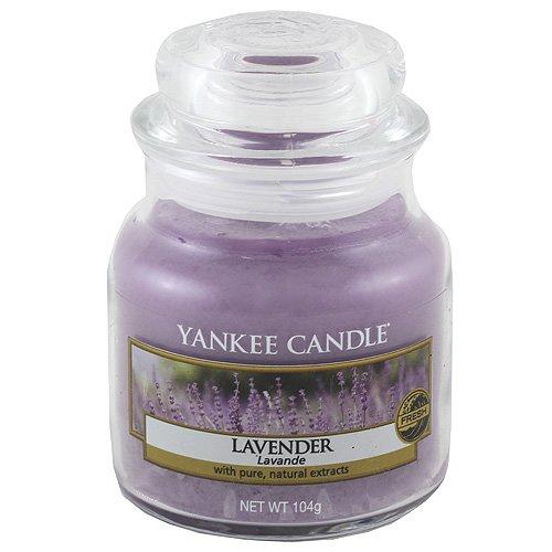 Yankee Candle Lavender Vela Aromática en Frasco Pequeño, Morado, 104g