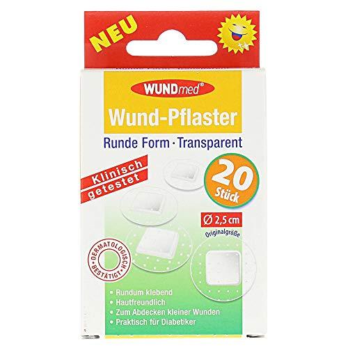 WUNDmed Wund-Pflaster rund transparent Ø 2,5 cm, 20 St. Pflaster