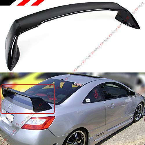 Cuztom Tuning Fits for 2006-2011 8TH Gen Honda Civic 2 Door Coupe Painted Black Mug RR Style Trunk Spoiler Wing
