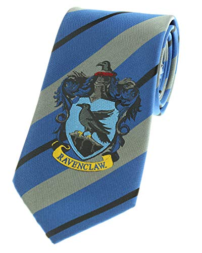 Premium Harry Potter Tie Striped House Crest Necktie (Ravenclaw)