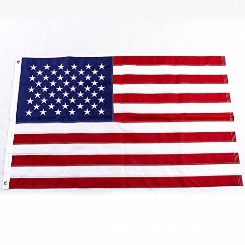 LUOEM Drapeaux patriotiques drapeau américain 4 juillet broderie étoiles étoilé bannière Applique drapeau américain pour les événements sportifs