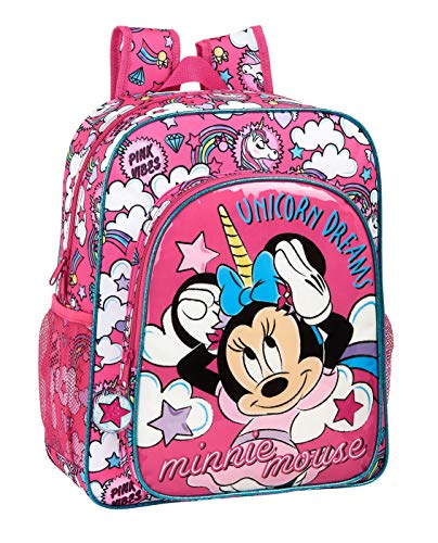 Safta 612012640 Mochila Escolar Junior de Minnie Mouse  Rosa
