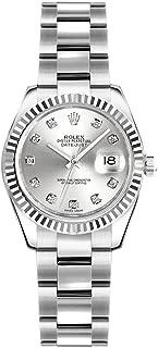 Rolex Lady-Datejust 26 Silver Dial with Diamonds Luxury Watch (ref. 179174)