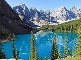 wandmotiv24 Carta da parati Moraine Lake Canada Größe: 350 x 260 cm Carta da parati a motivi, carta da parati a motivi, carta da parati in vinile KTk237