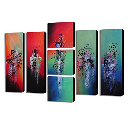Telaio soggiorno decorativi pittura fai da te dipinti a mano olio pittura astratta