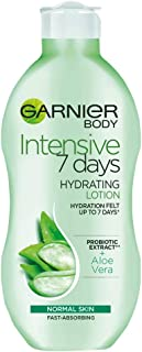 Garnier Intensive 7 Days Aloe Vera and Probiotic Extract Body Lotion 250 ml, Hydrating and Refreshing Moisturiser, Up to 7...