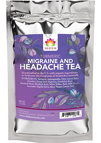 Shifa Turmeric Headache Relief Tea: Handcrafted with Herbs, Phytonutrients and Antioxidants