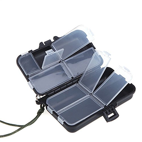 9 Compartments Fishing Lures Spoon Hooks Baits Hook Tackle Plastic Storage Box Case by Phoenix B2C UK