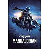 Poster Erik The Mandalorian Speeder Bike 2 – Decorazione da parete Star Wars