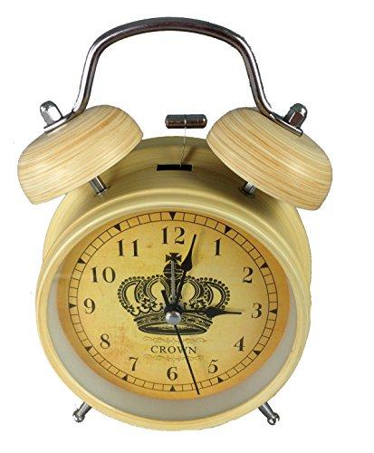 GMMH Tischuhr Nostalgie Antik Vintage Retro Metall Standuhr Wecker Uhr Design (14-4)