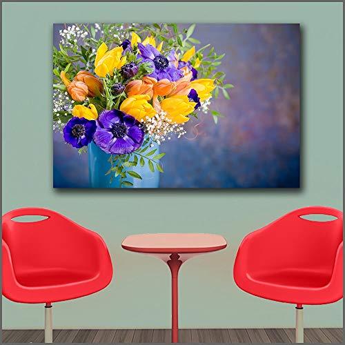 Groot olieverfschilderij mooie woonkamer en slaapkamer bloempot muur canvas schilderij frameloze schilderij 30x45cm