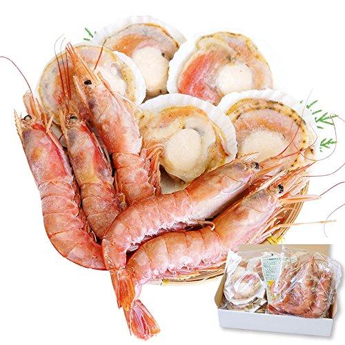 海鮮 詰め合せ 2種 セット 片貝 ほたて 5枚・赤 えび 5尾【冷凍】 バーベキューセット 海鮮セット bbq バーベキュー ホタテ 越前宝や