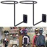 PEI Motorcycle Accessories Helmet Holder Jacket Hanger Wall Mounted Multifunctional Rack (black 2pc)