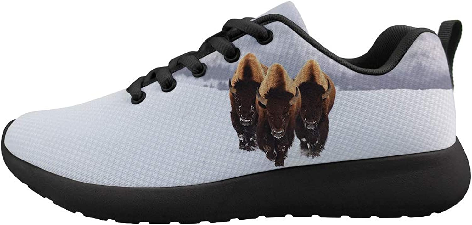 Owaheson Cushioning Sneaker Trail Running shoes Mens Womens Winter is Coming Mighty Bison Force
