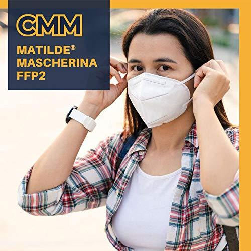 MATILDE ITALIANE Mascherine FFP2 certificate CE 50 pezzi Made in Italy 100% (Stabilimento in MODENA)