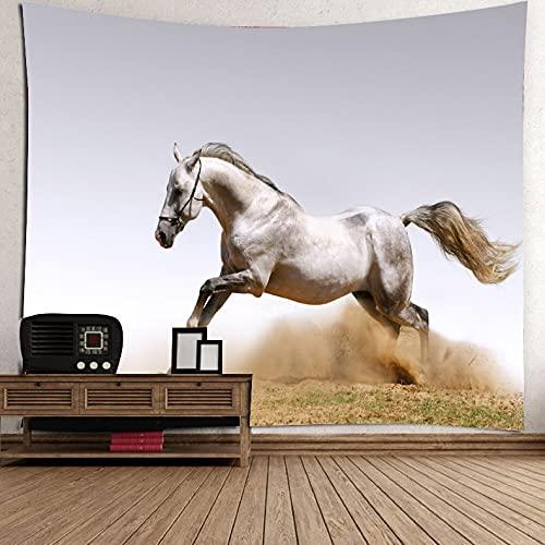 Tapiz de caballo tapiz de colores tapices de pared con tapiz de caballo arte de pared y decoración del hogar manta de tela de fondo A1 180x230cm