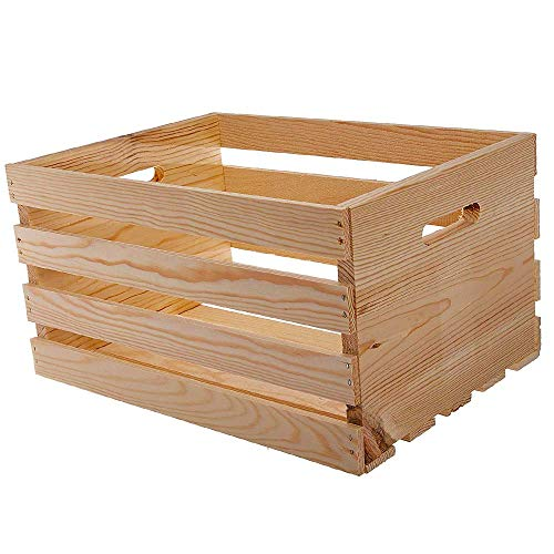 HOUSEWORKS 67140 18 Lx12.5 Wx9.5 H Large Crates /& Pallet Wood Crate Exclusive Edition