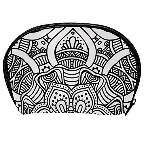 Bolsa universal espaciosa para maquillaje, cosméticos y cosméticos, kit de cuidado de la piel, diseño étnico y tribal, organizador de accesorios electrónicos portátil