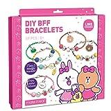 Make It Real - Line Friends DIY BFF Bracelets - Bead and Charm Bracelet Making Kit for Girls - DIY Friendship Bracelet Kit with Jewelry Making Supplies - Arts and Crafts for Kids