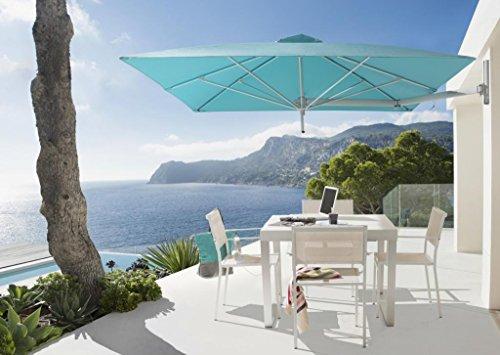 Parasol déporté - Paraflex Wallflex Carré 1.9x1.9m Acrylique Dickson Sunbrella 270g/m2 Canvas Evolution 2m