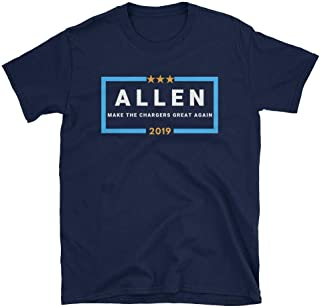LiberTee Allen Make The Chargers Great Again Tshirt for Men and Women, Funny 2019 Football Shirt for Charger Fans