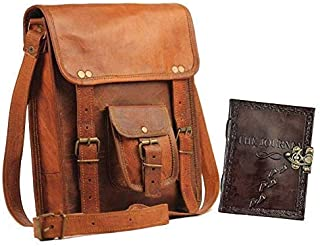 pranjals house Genuine Leather Cross-Body Sling Bag for Men Combo with Leather Journal Diary