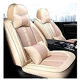 YZU (Avant + arrière) Housses de siège d'auto universelles pour Sonate Elantra Tucson Highlander Corolla Prius Altima Rogue Cadillac SRX Chevrolet Malibu Protection de la Voiture,1