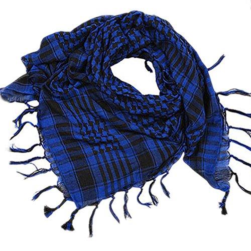 ZARU Unisex-Schal, Arbeiten arabische Palästina-Schal-Schal-Verpackung um (Blau)
