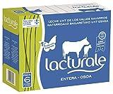 Lacturale leche entera UHT. Carton 6 bricks de leche (6 litros). Leche certificada en Producción Integrada de Navarra. Ingredientes: Leche de vaca. 100% natural.