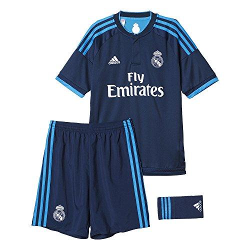 adidas Kinder Mini-bekleidungsset Real Madrid Trainingsausrüstung ausweichausrüstung, Night Indigo/Bright Blue, 92